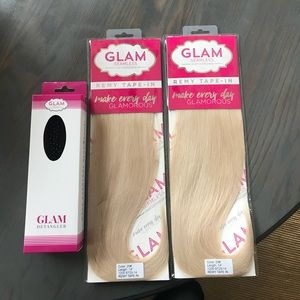 100% real human hair tape in extensions
